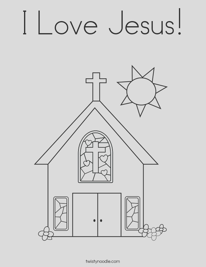 i love jesus 3 coloring page