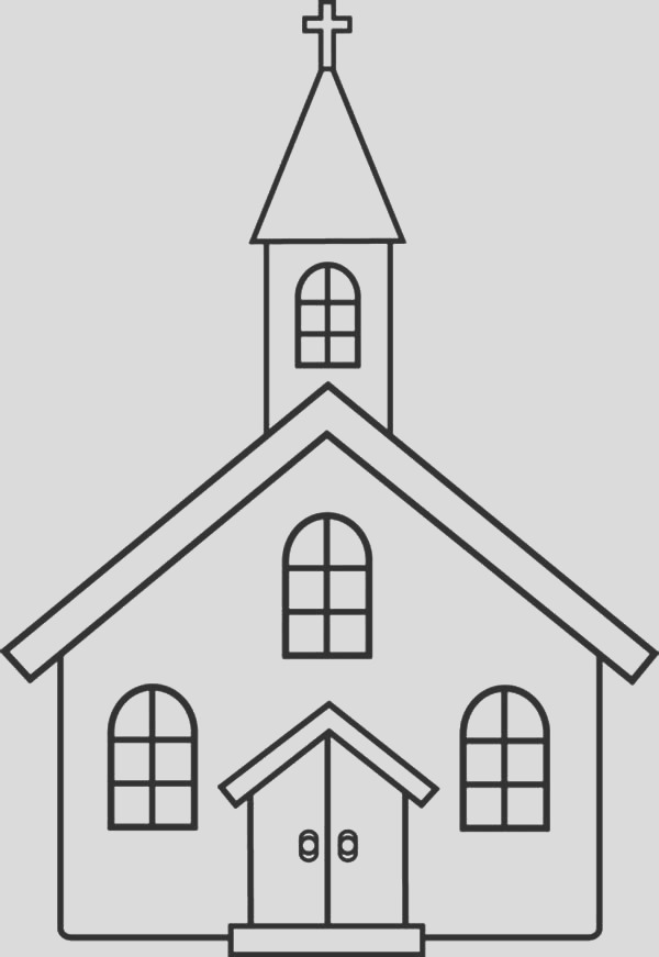 church coloring pages for kids 2
