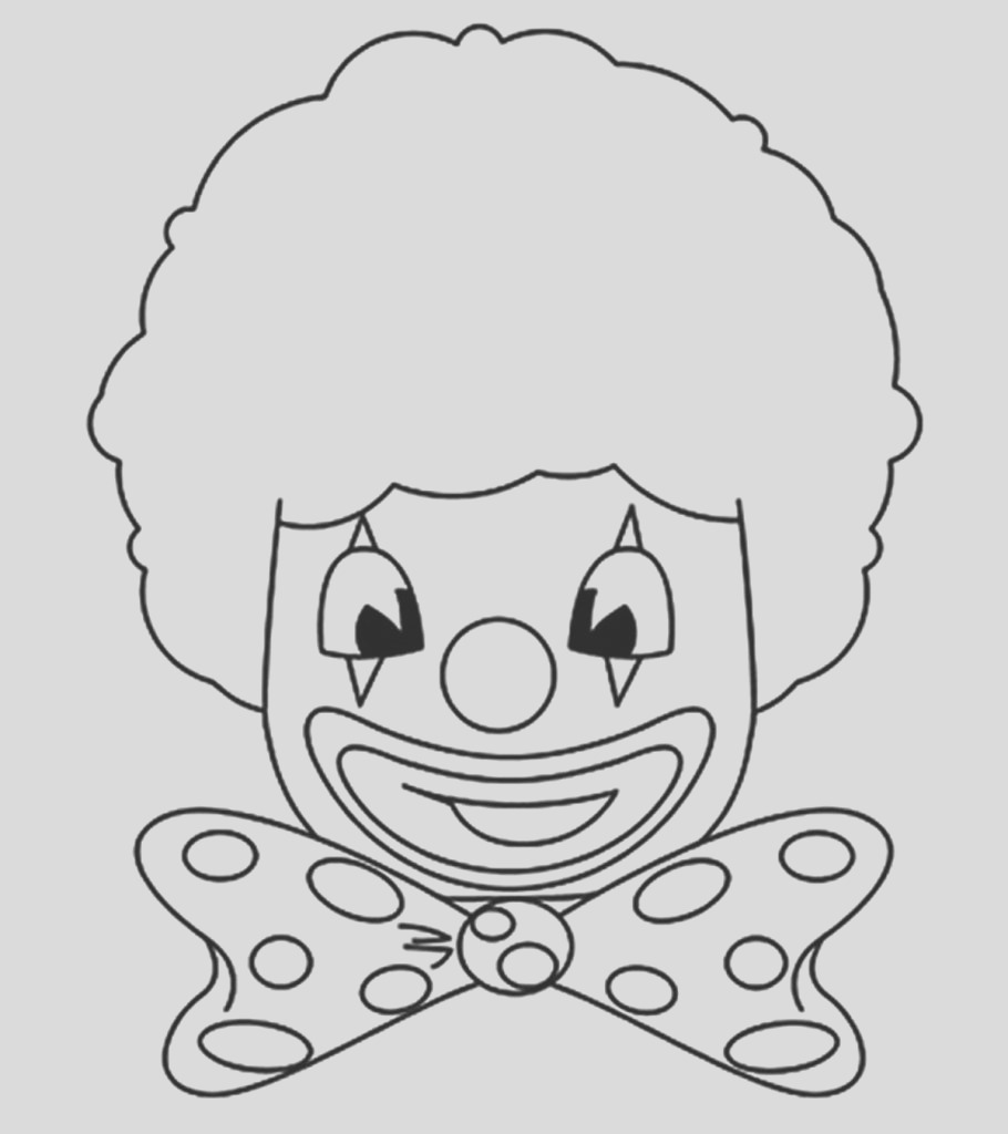 funny clown coloring pages little ones