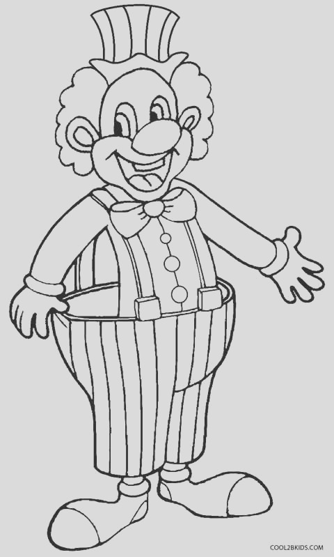 clown coloring pages