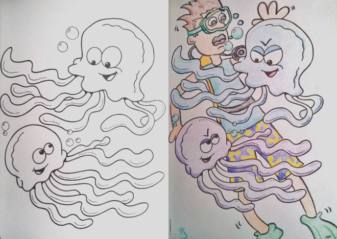 coloring books for children seen from adults perspective
