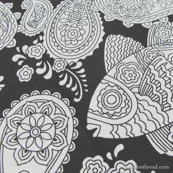 fun fabric that begs to be embroidered