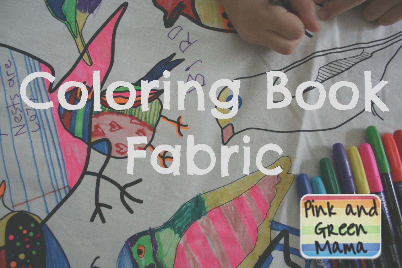 color your own coloring book fabric