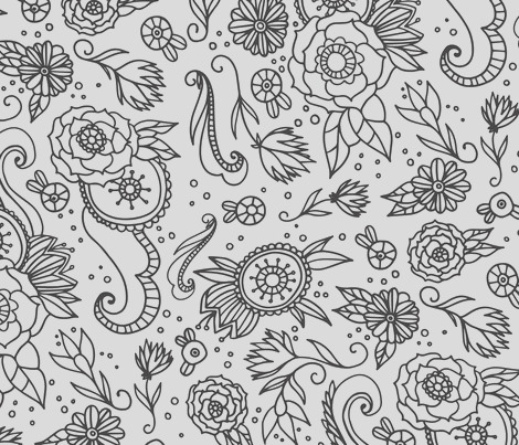 coloring book floral by printablecrush