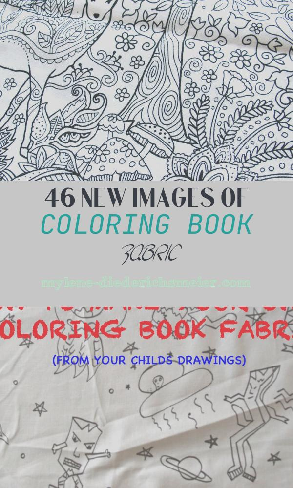 Coloring Book Fabric Lovely Fun Fabric that Begs to Be Embroidered – Needlenthread