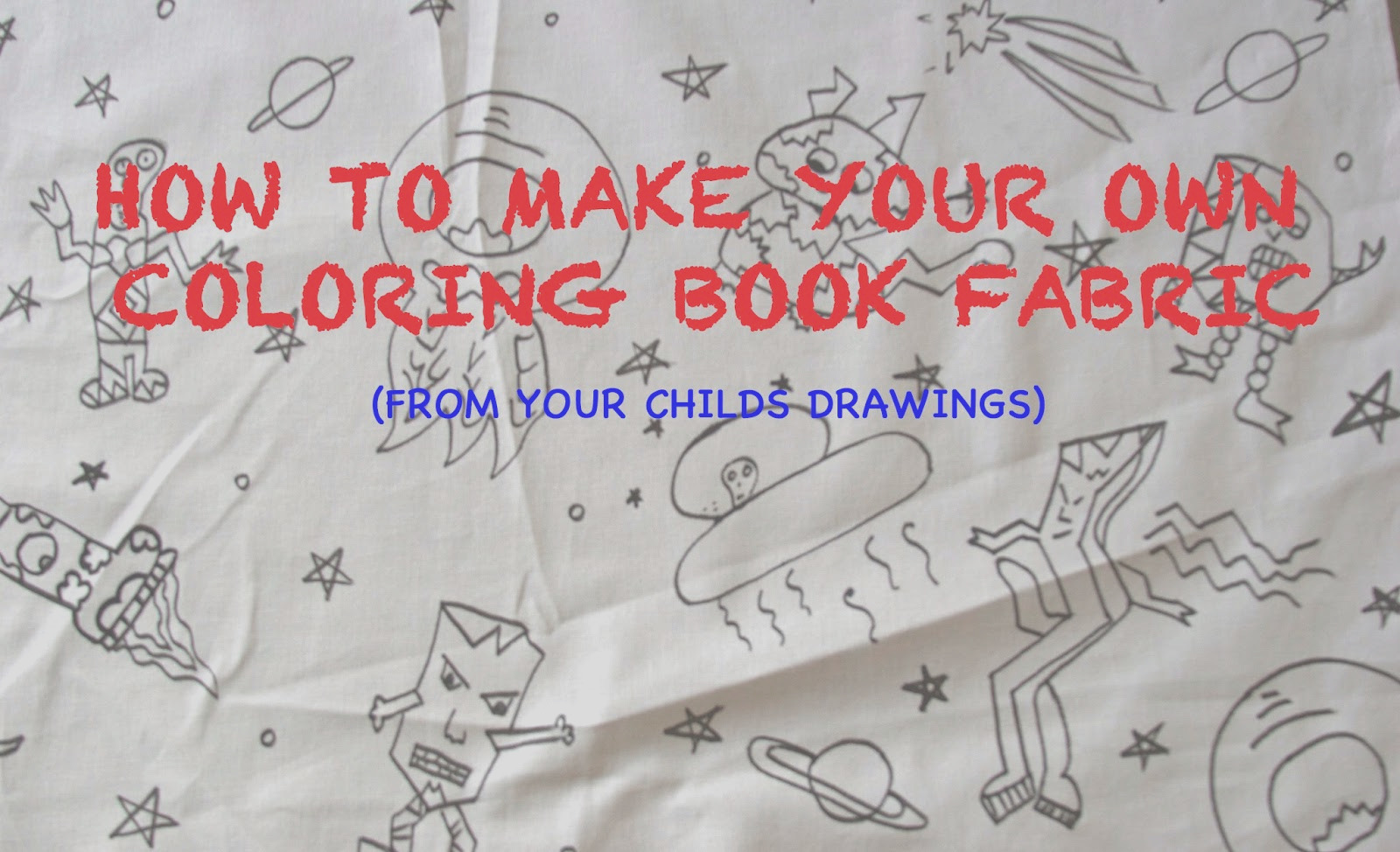 make your own coloring book fabric from