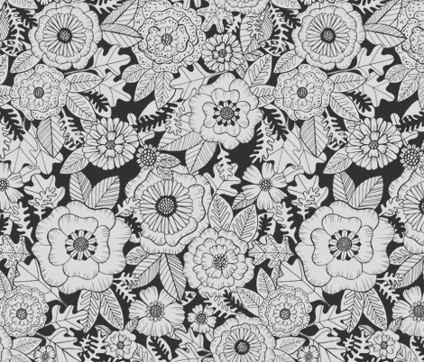 florals coloring book by kristinnohe