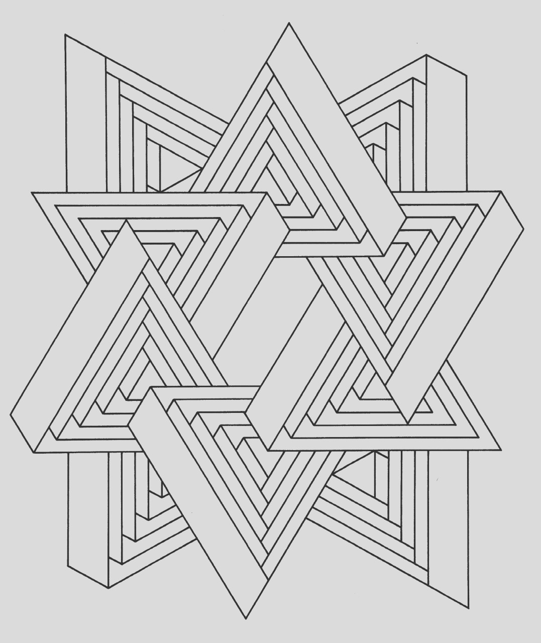 hard geometric coloring pages to print out