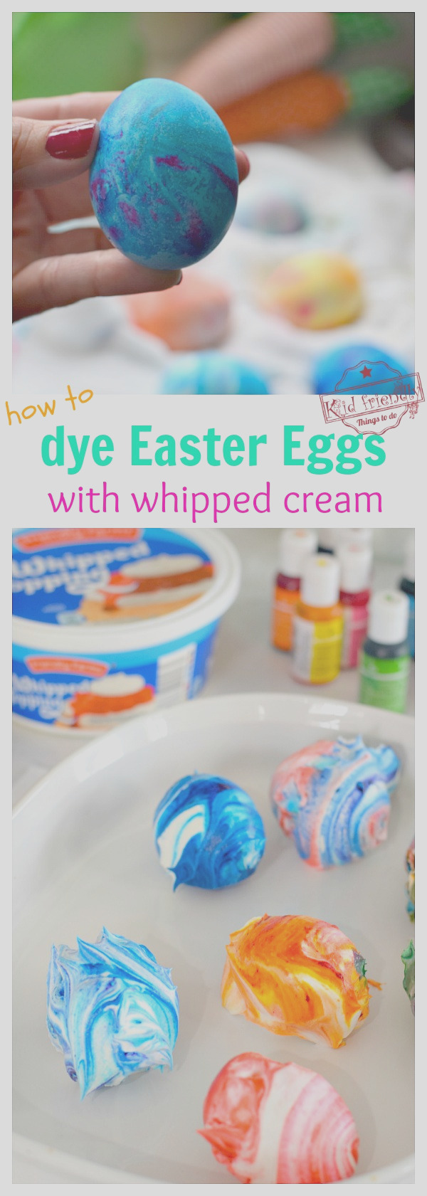 how to dye eggs with whipped cream using muffin tins kid friendly things to do