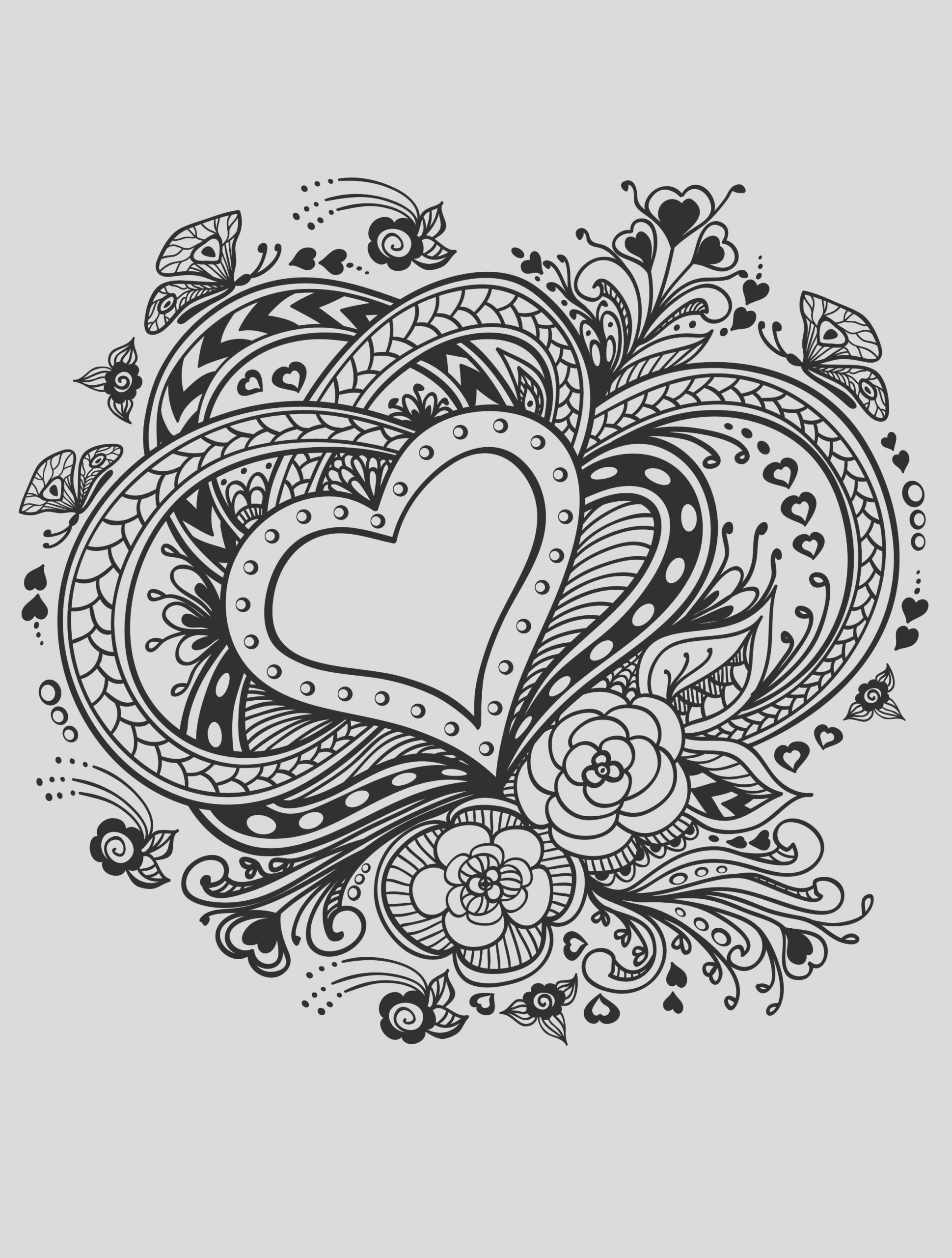 valentine coloring pages 2