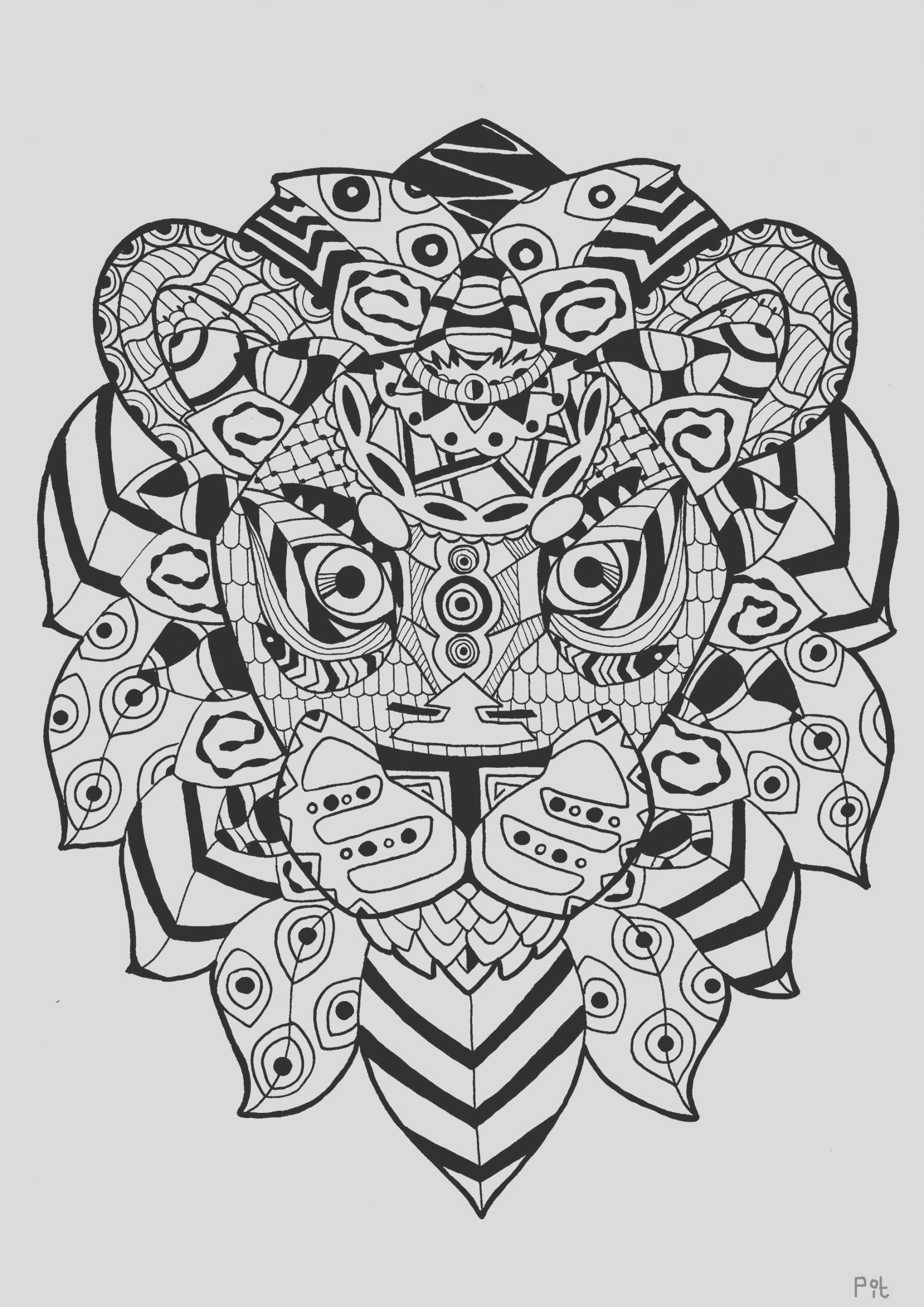 image=lions coloring page adult zentangle lion 1