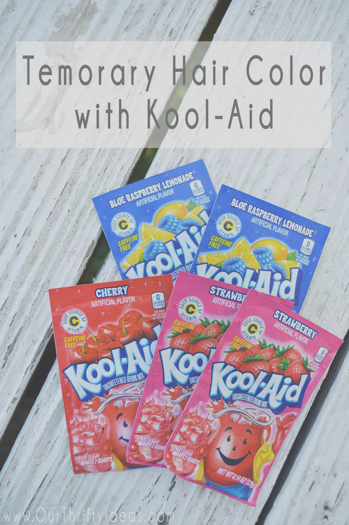 easy way to add fun color to your hair using kool aid