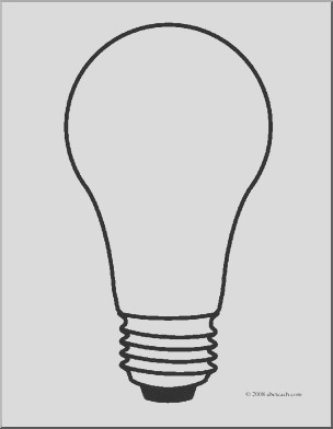 clip art light bulb 2 coloring page i abcteach