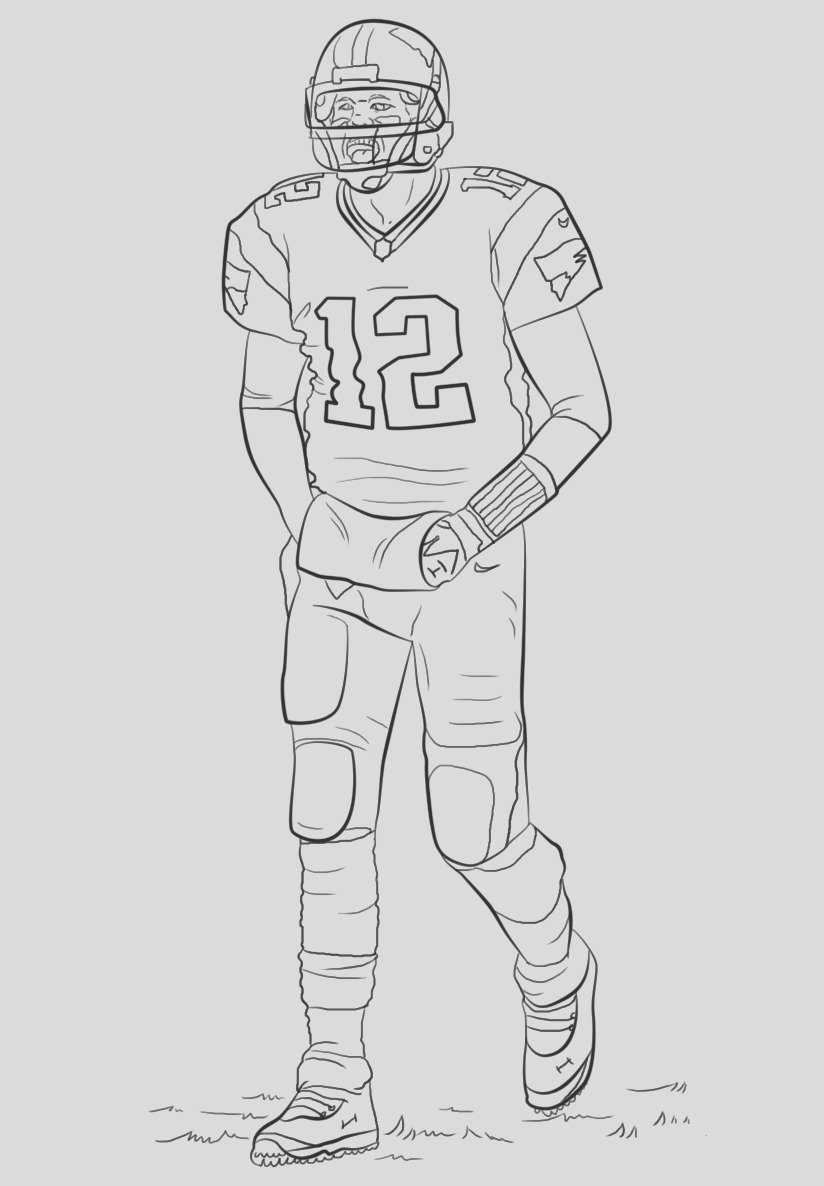 free printable football coloring pages kids