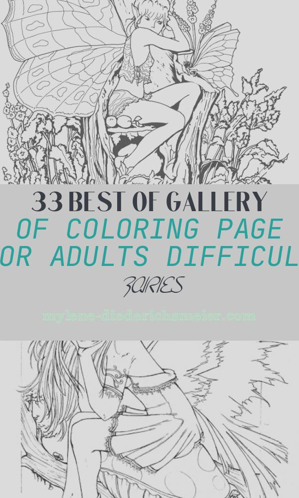 Coloring Page for Adults Difficult Fairies Inspirational Coloring Pages for Adults Pdf Free Download