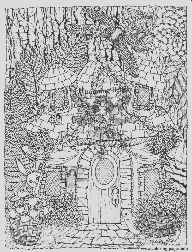 difficult fairies house printable coloring pages book