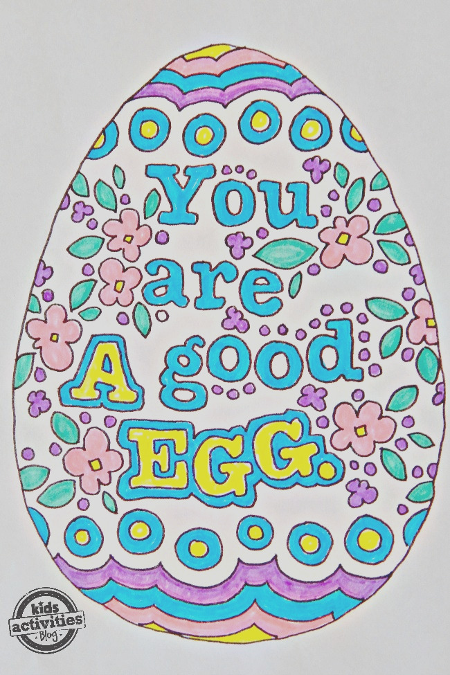 easter egg doodle coloring pages