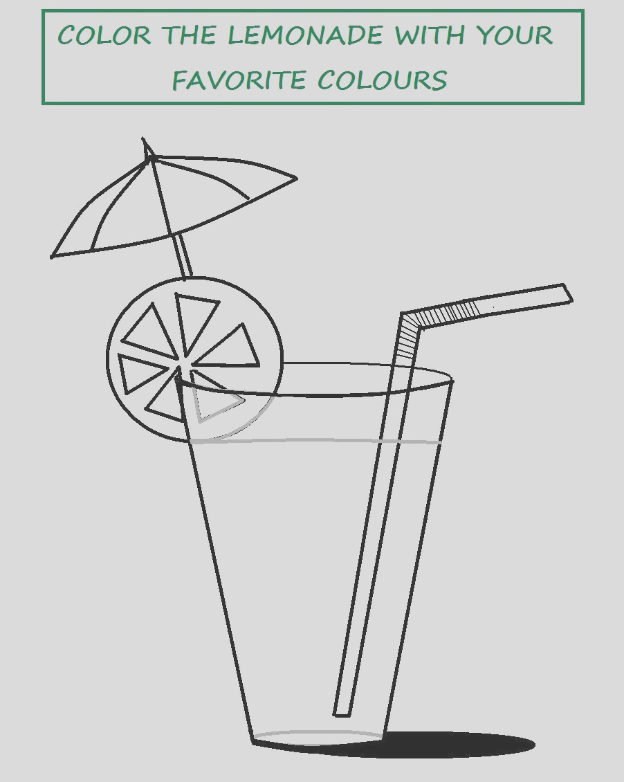 1087 Tasty lemonade coloring printable page for kids