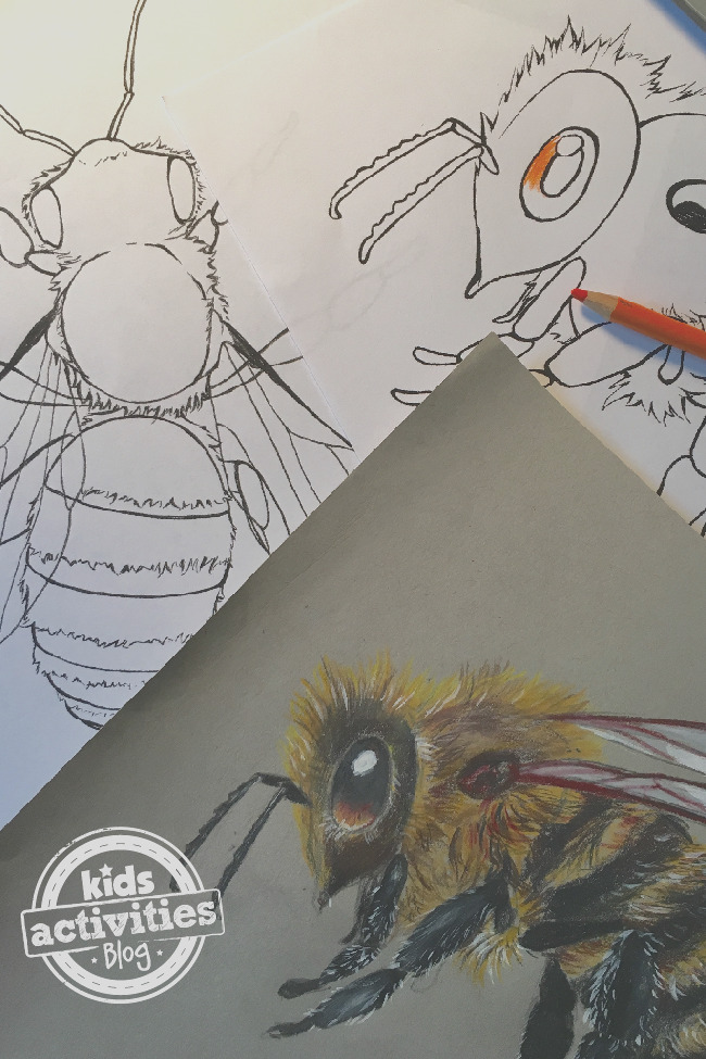 honey bee coloring pages for kids