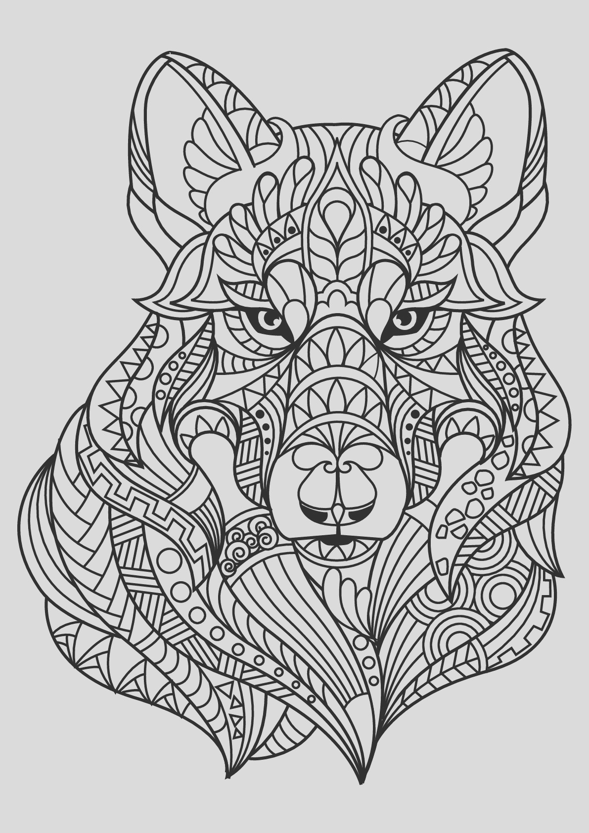 image=wolf Coloring for kids wolf 1