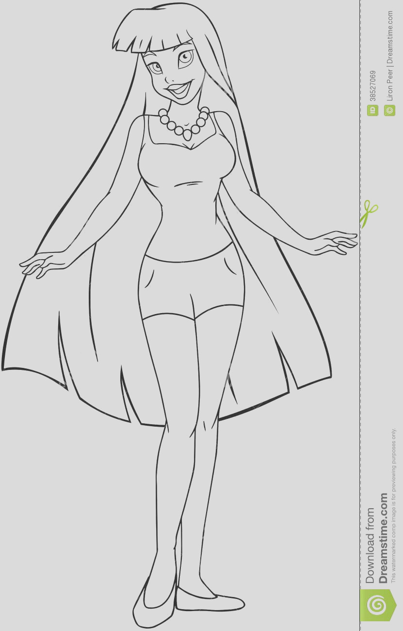 royalty free stock images teenage girl tanktop shorts coloring page vector illustration image