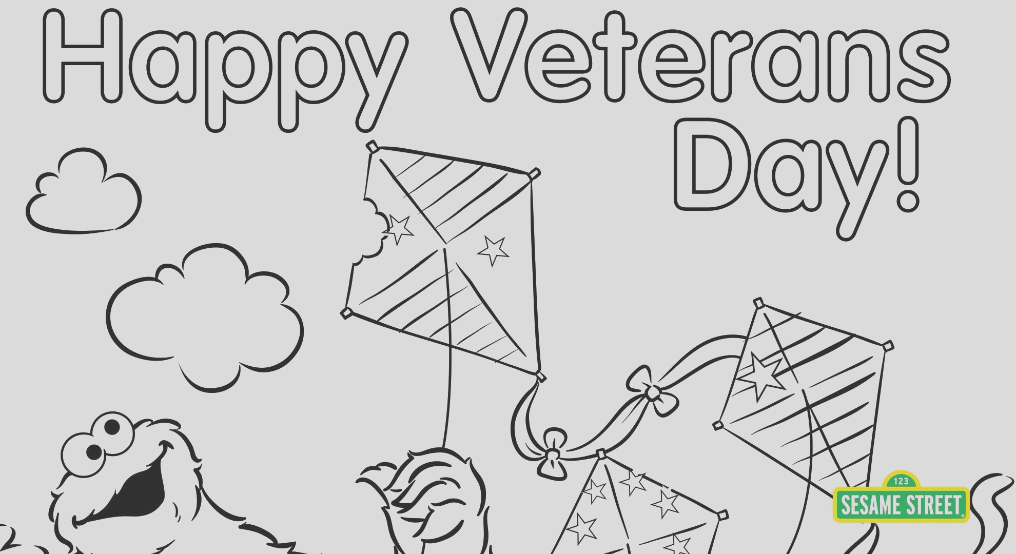 veterans day coloring page printable sesame street
