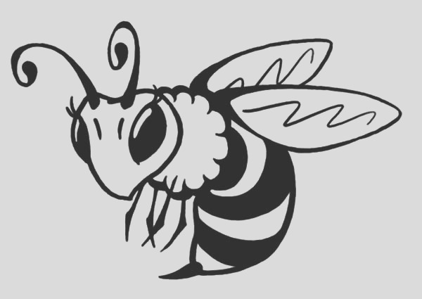 beautiful honey bee coloring pages