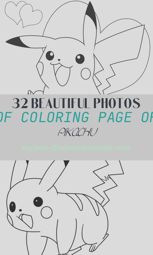 Coloring Page Of Pikachu Beautiful Printable Pikachu Coloring Pages for Kids