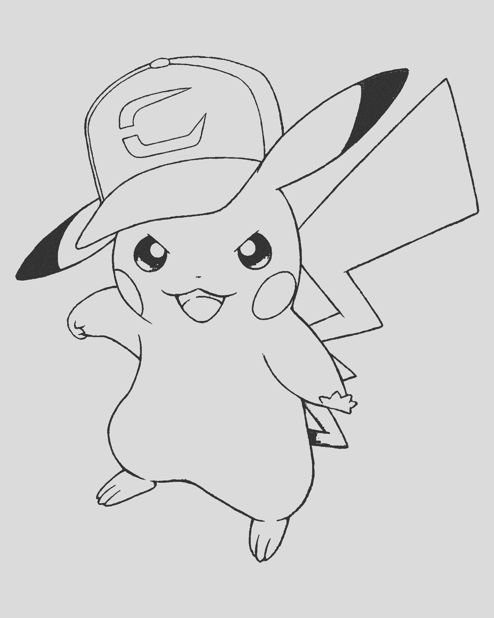 free pikachu coloring pages