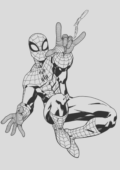 spiderman coloring pages for kids 16