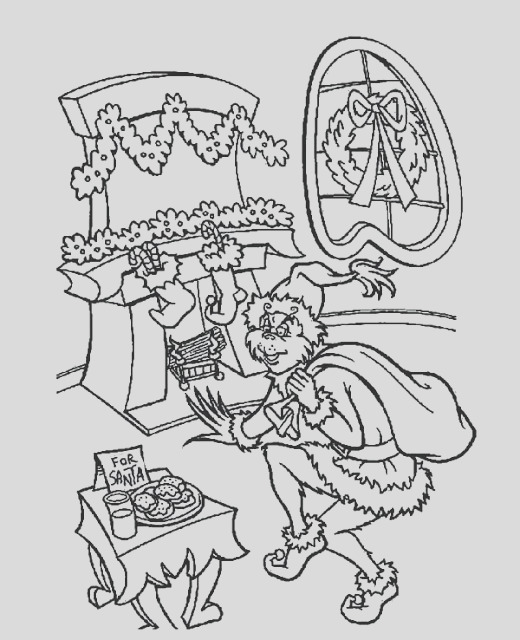 grinch coloring pages free and