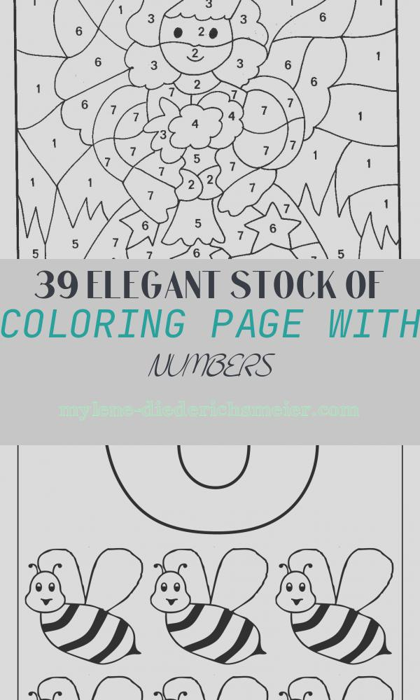 Coloring Page with Numbers Beautiful Number Coloring Pages 13