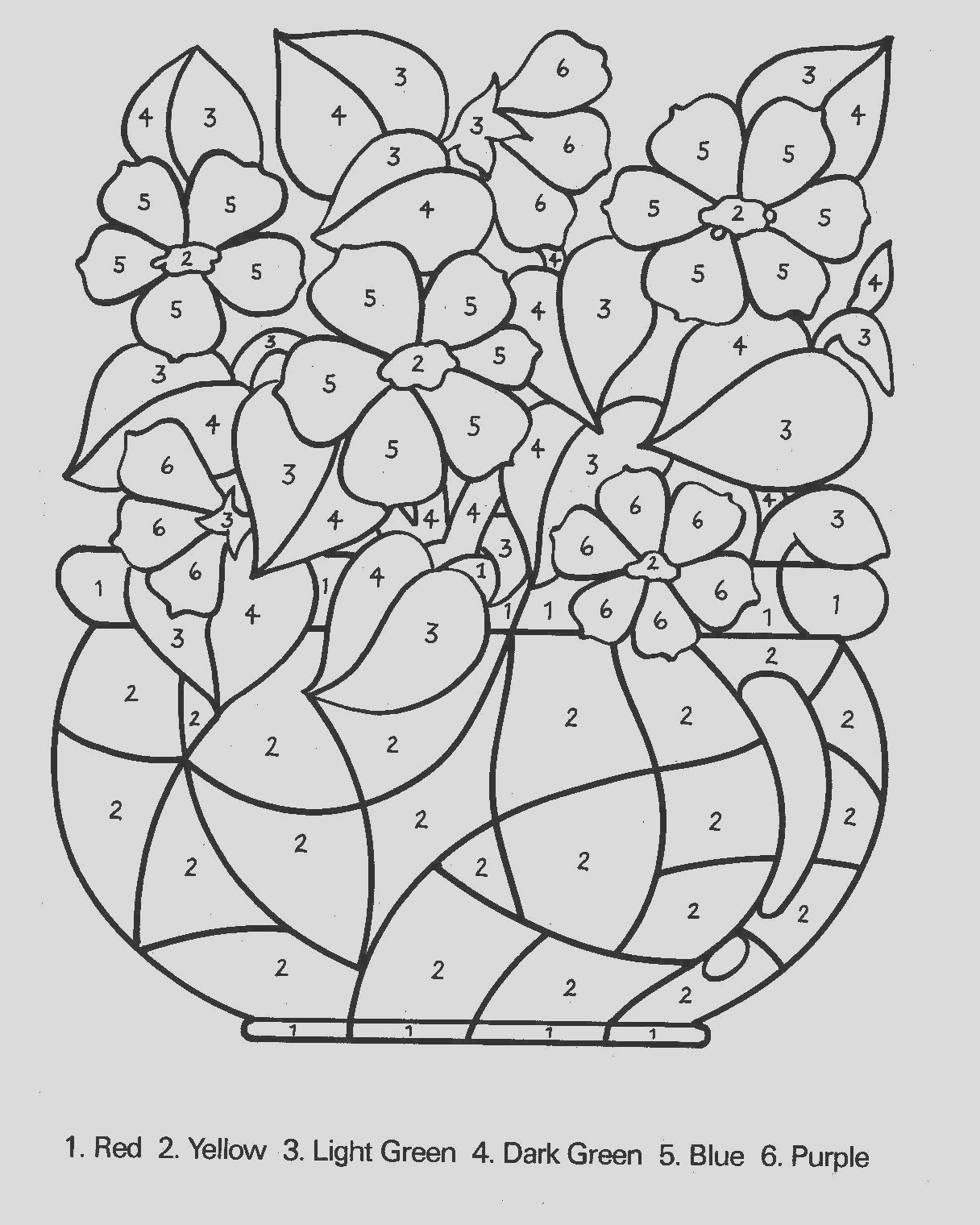 number coloring pages 4 2