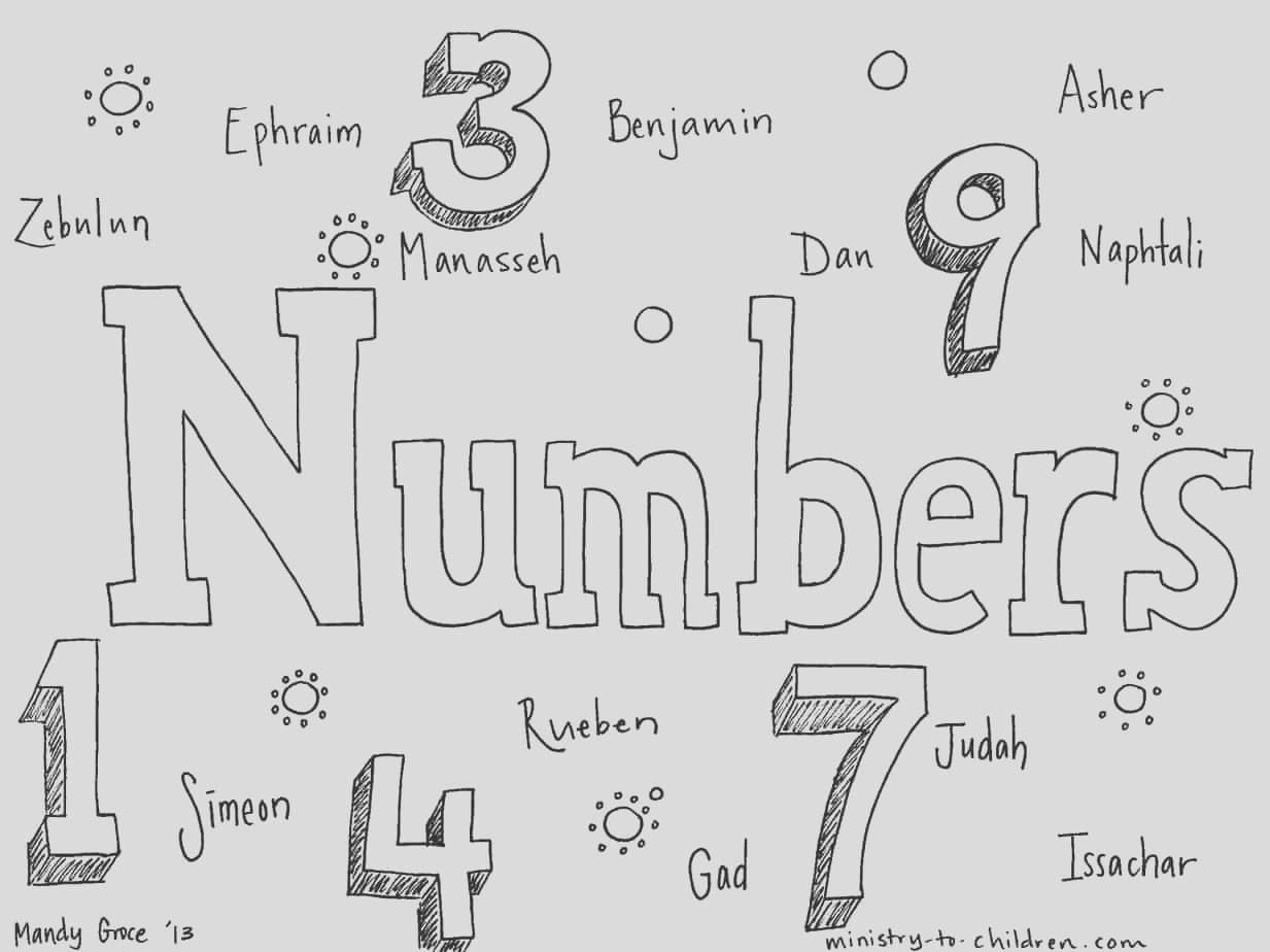 numbers bible coloring page