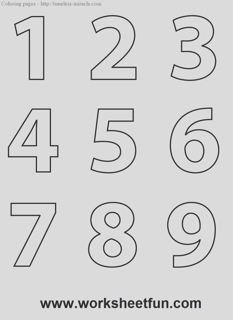 numbers to color