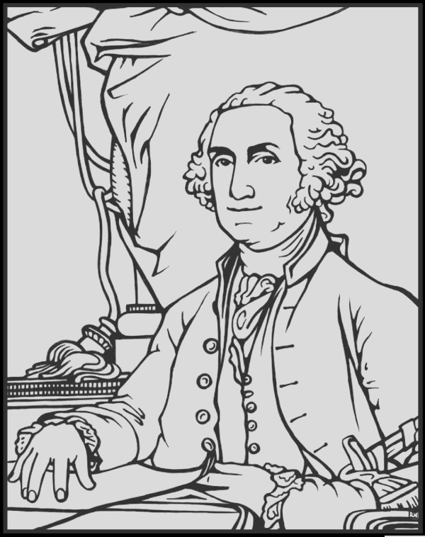 president 1 coloring page george