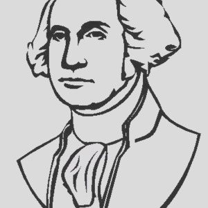 general george washington during the revolutionary war coloring page