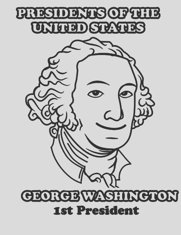 george washington 1st president of united states coloring page