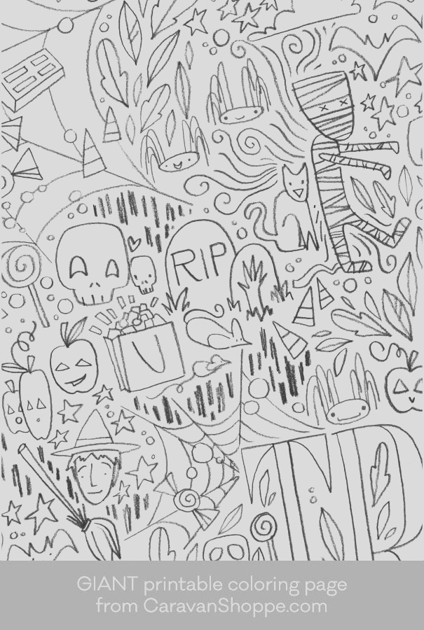 giant halloween coloring page