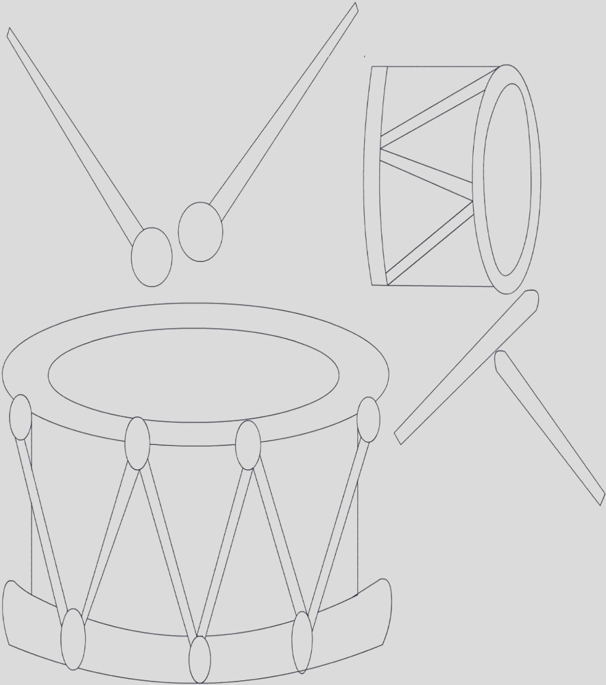2805 Drum printable coloring page for kids