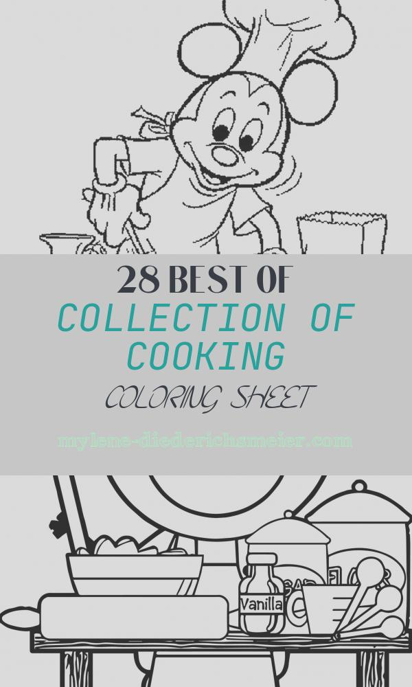 Cooking Coloring Sheet Awesome Cooking & Baking Coloring Pages