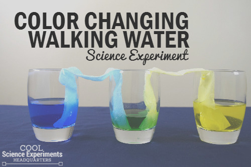 color changing walking water