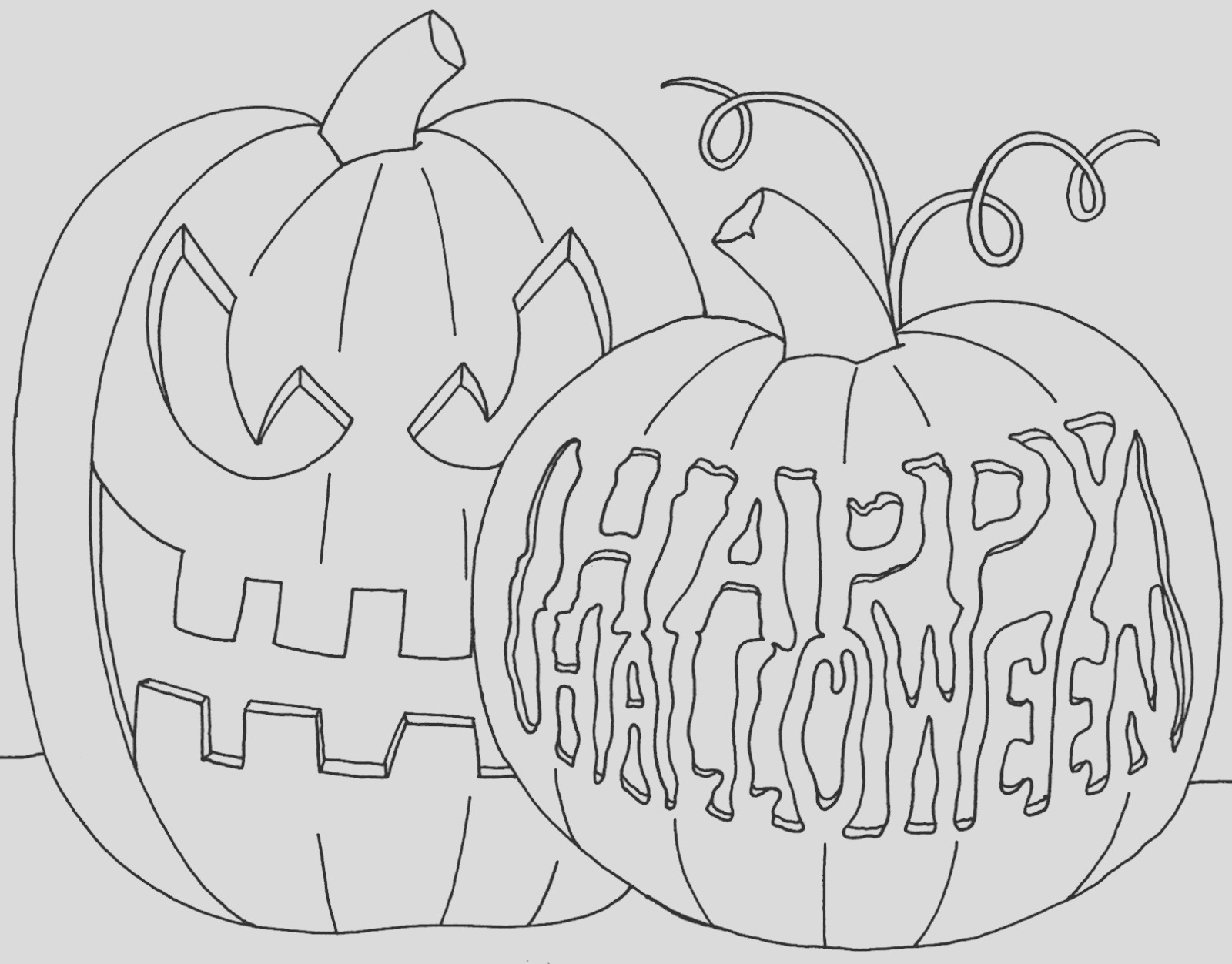 happy halloween drawing