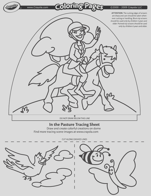 dome light designer in the pasture coloring page