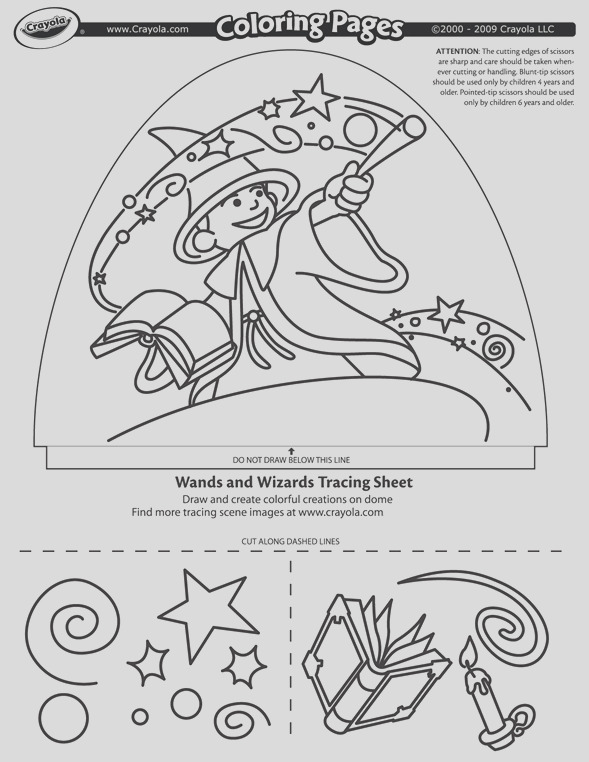 dome light designer wands and wizards coloring page