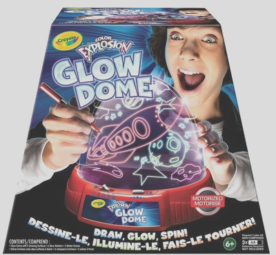 the fire wire holiday t guide – crayola color explosion glow dome