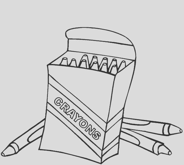 awesome box crayons coloring pages