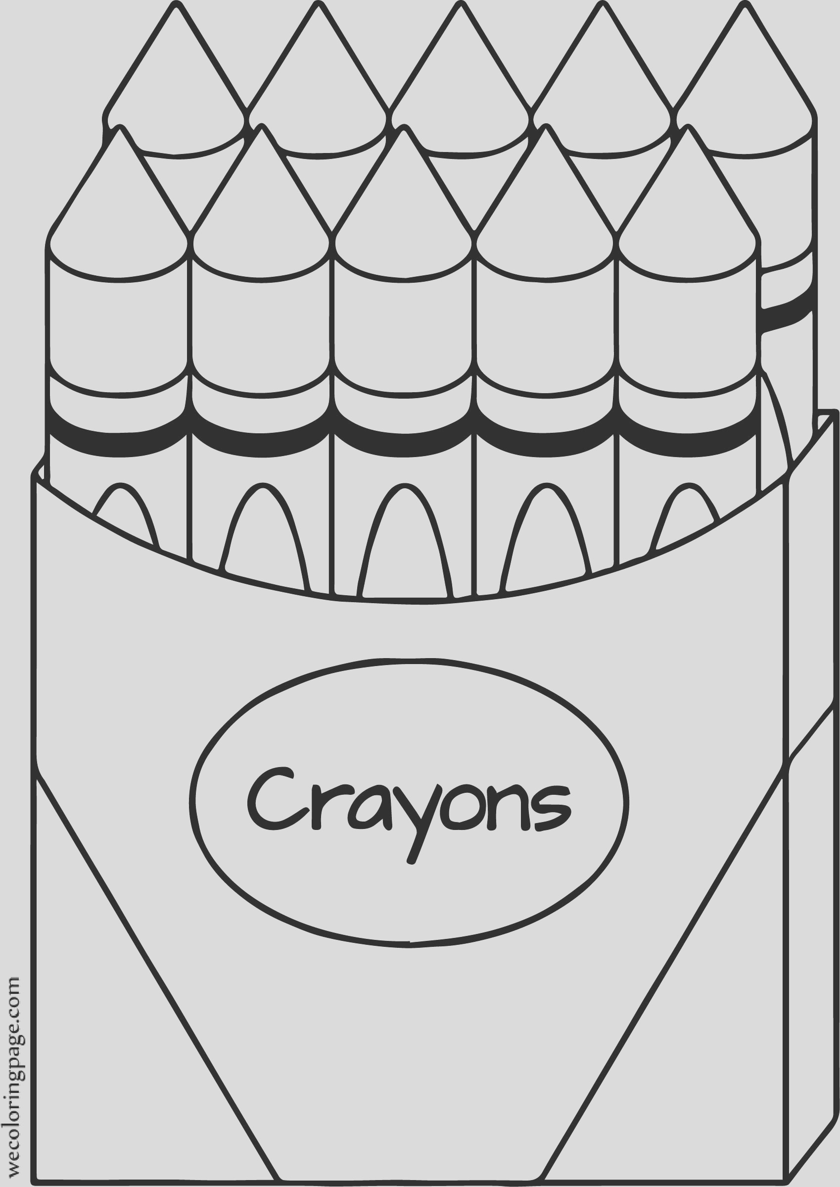 crayon all coloring page