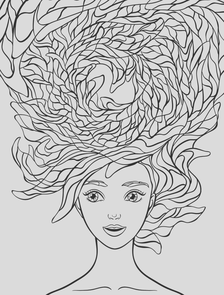 coloring pages to print woman