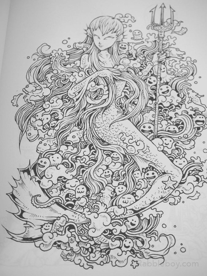doodle invasion a crazy coloring book by kerby rosanes